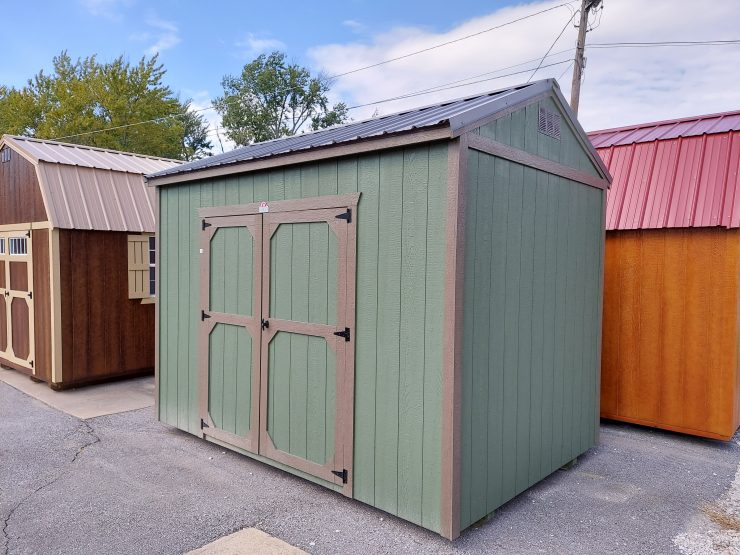8x12 Utility Shed in Pequea Green Paint