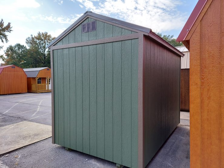 8x12 Utility Shed in Pequea Green Paint Side