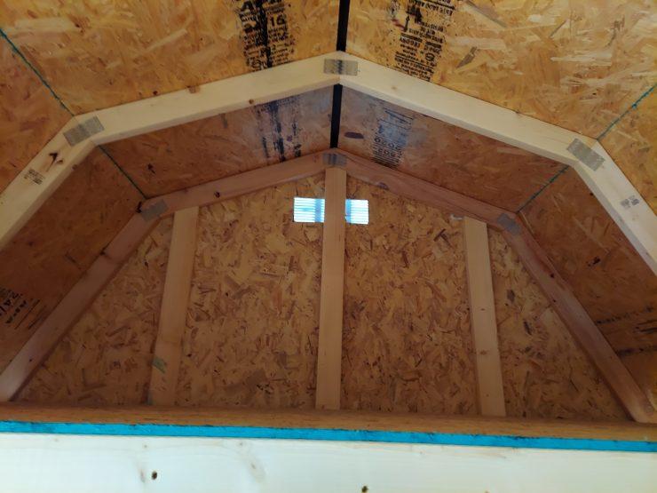 8x12 Side Lofted Barn in Mushroom Paint Loft