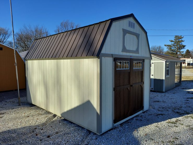 10x16 Lofted Barn Shed Front Angle