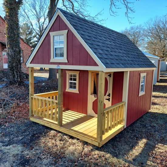 8x12 Hideout Playhouse Barn Red