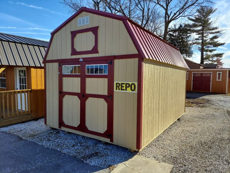 12x16 Lofted Barn Shed Repo Front