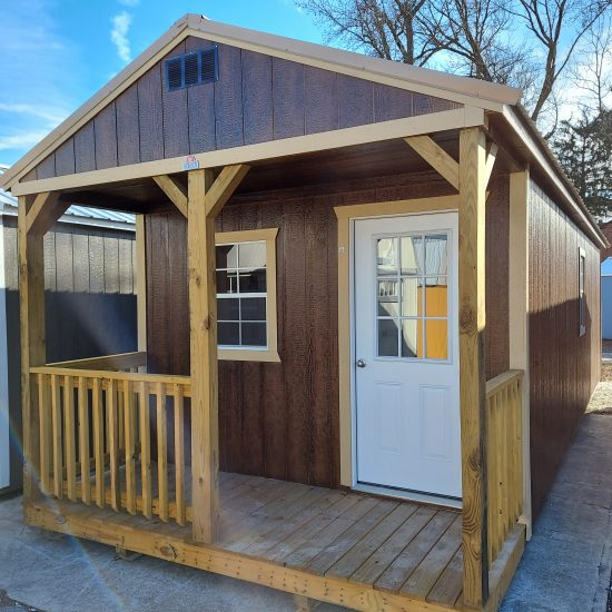 12 x32 Cabin Tiny Home Front