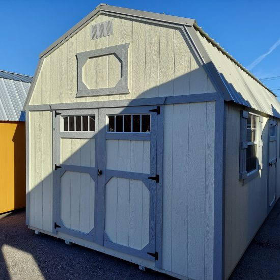 12x24 Lofted Barn Shed with Windows Front
