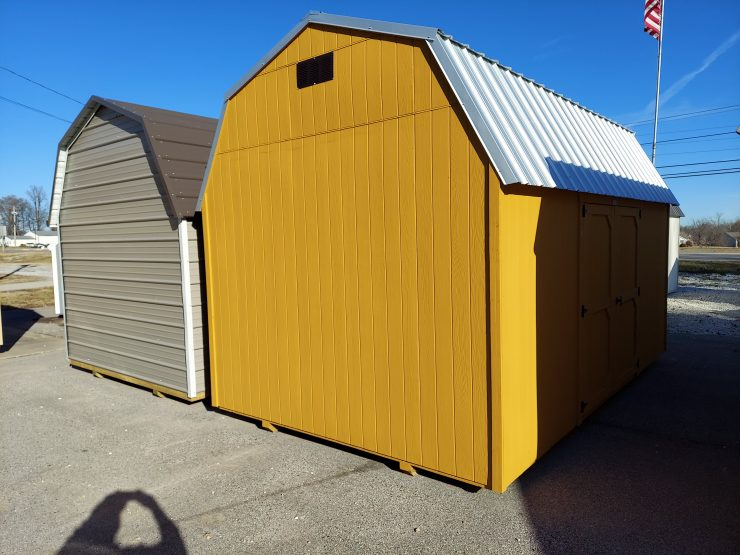 10x16 Best Value Wood Side Lofted Barn Front