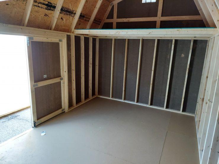10x16 Best Value Wood Side Lofted Barn Inside