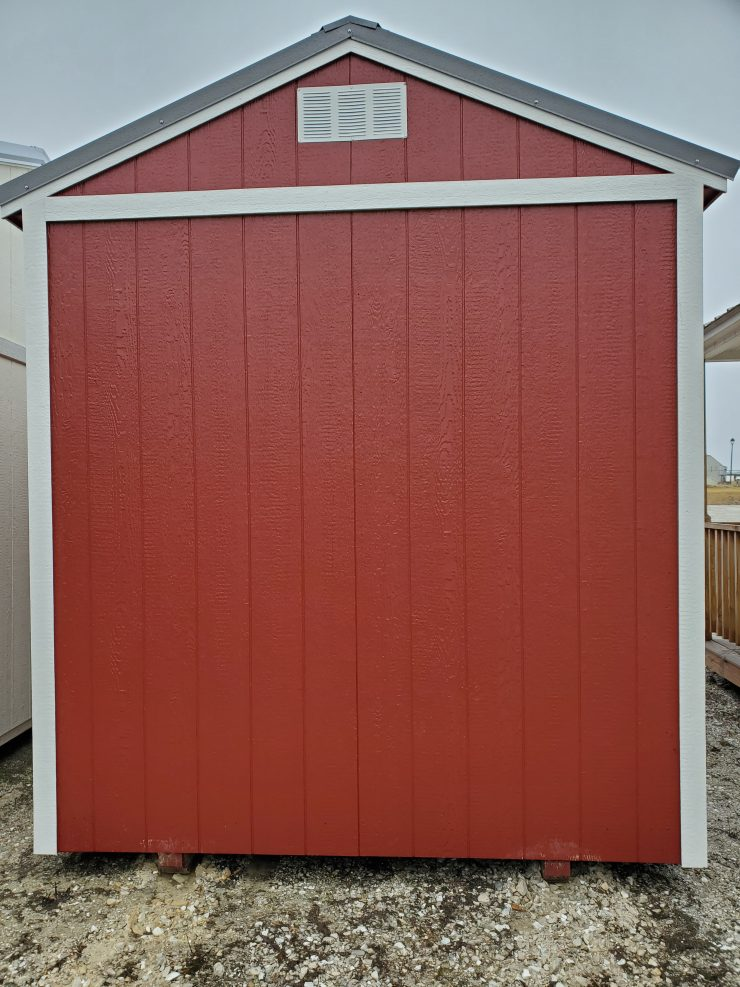 20210125_18x12 Utility Garden Shed in Barn Red Paint Back