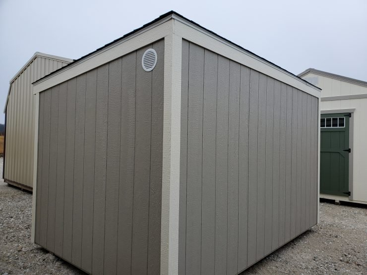 8x12 Metro Shed in Pecan Paint Back