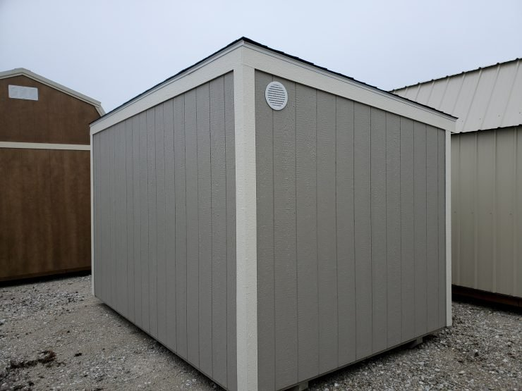 8x12 Metro Shed in Pecan Paint Back Angle