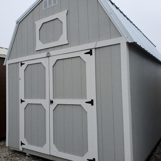 10x16 Lofted Barn Shed in Mushroom Paint Front