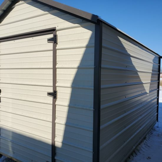 8x12 EMUT Economy Metal Utility Shed Front