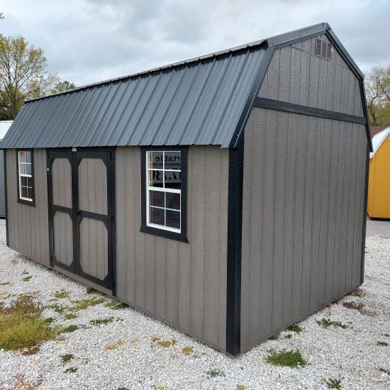 10x20 Side Lofted Barn with Windows in Driftwood Urethane