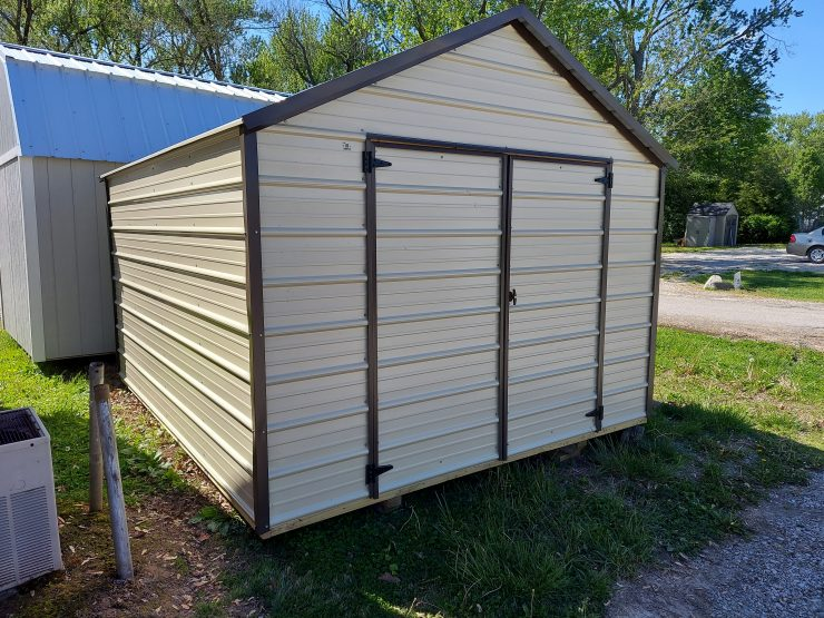 10x12 EMUT Economy Metal Utility Shed Front