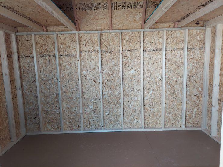 8x12 Lofted Barn Shed in Almond Paint Inside