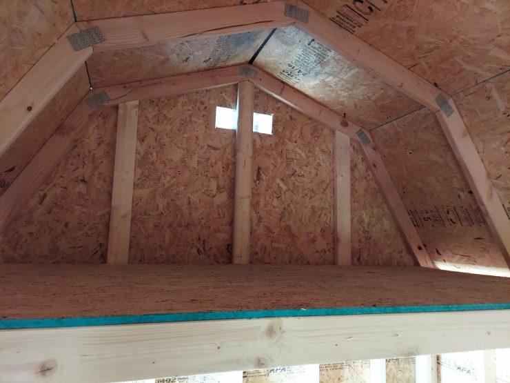8x12 Lofted Barn Shed in Barn Red Loft