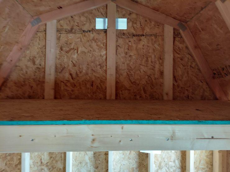 8x12 Lofted Barn Shed in Almond Paint Loft