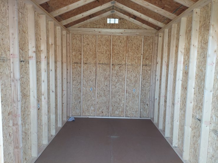 8x12 Garden Utility Shed in Pequea Green Inside