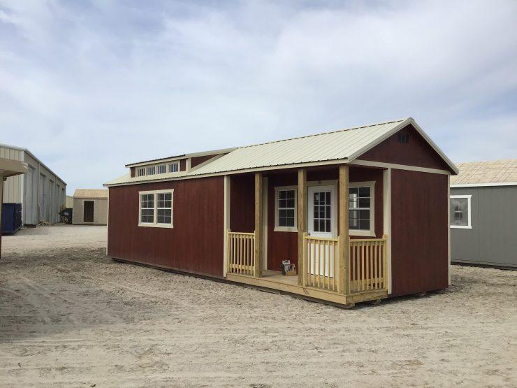12x36 Cabin or Tiny Home in Mahogany Urethane