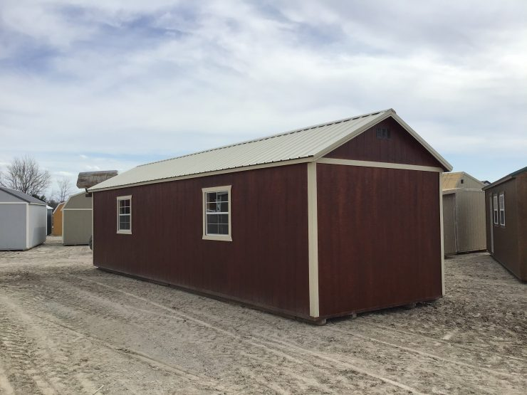 12x36 Cabin or Tiny Home in Mahogany Urethane Back
