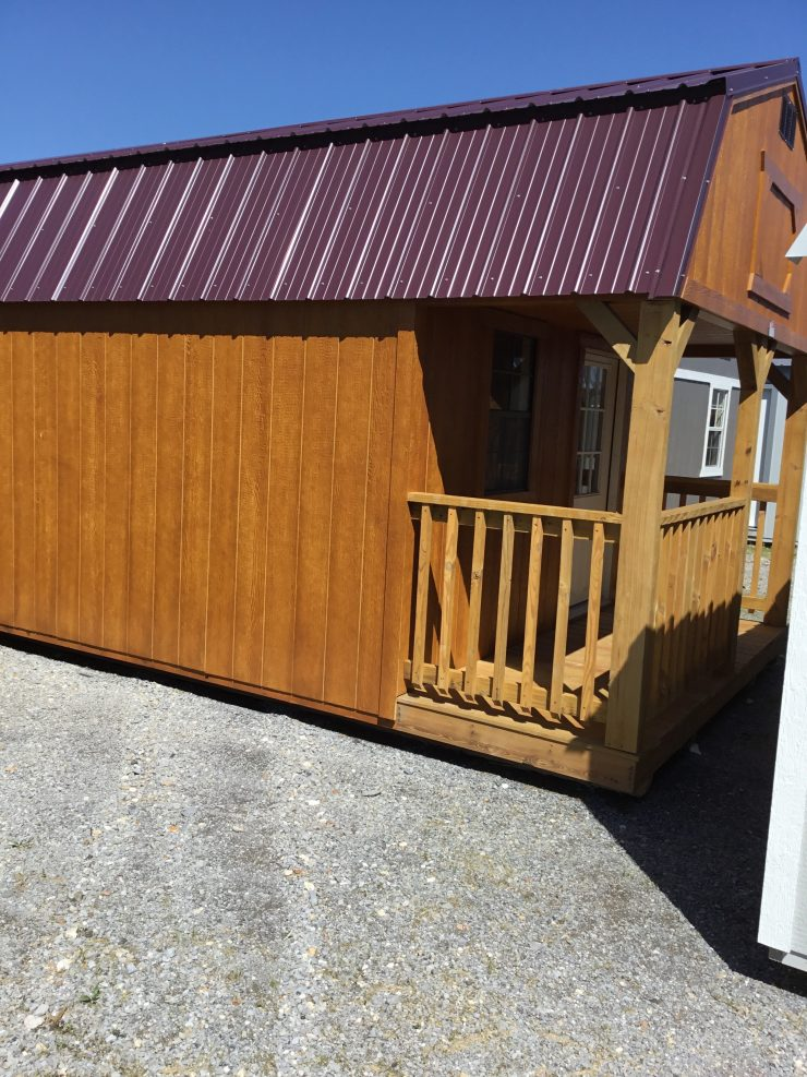 12x40 Lofted Barn Cabin or Tiny House Front