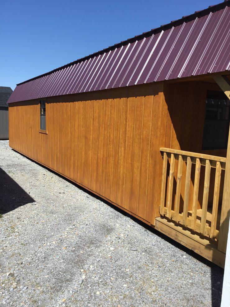 12x40 Lofted Barn Cabin or Tiny House Side