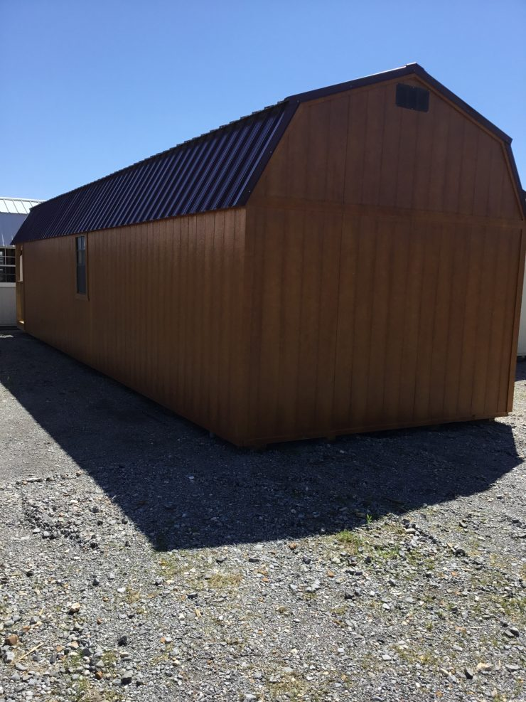 12x40 Lofted Barn Cabin or Tiny House Back