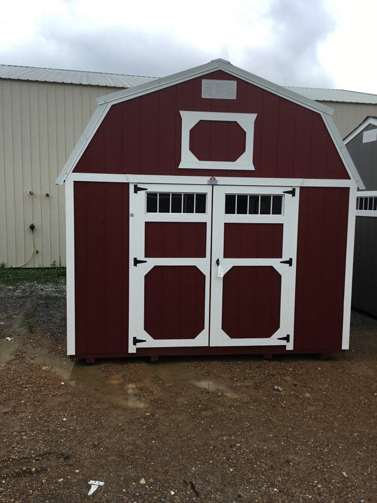 12x16 Lofted Barn Shed in Barn Red Paint