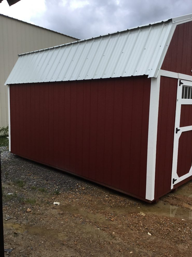 12x16 Lofted Barn Shed in Barn Red Paint Side
