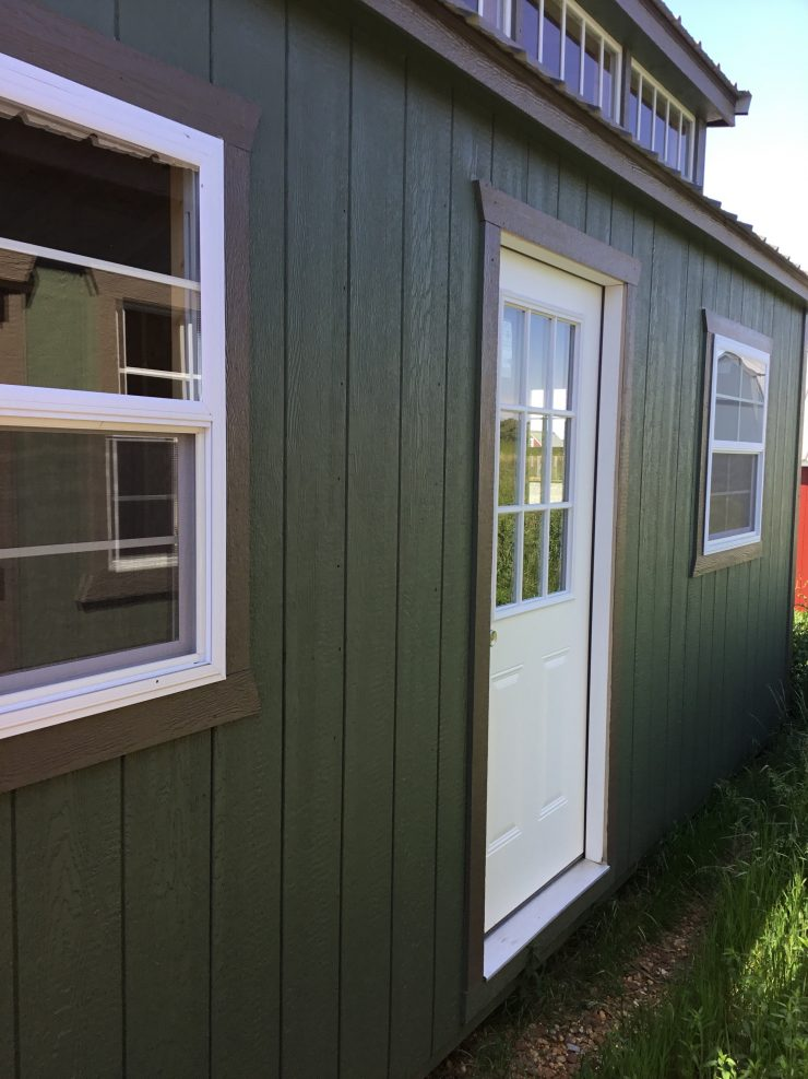 12x26 Cabin or Tiny House in Pequea Green Side Door