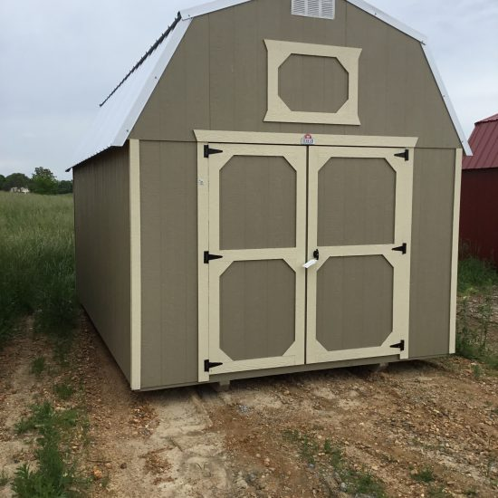 10x16 Lofted Barn Best Value Wood in Taupe Paint