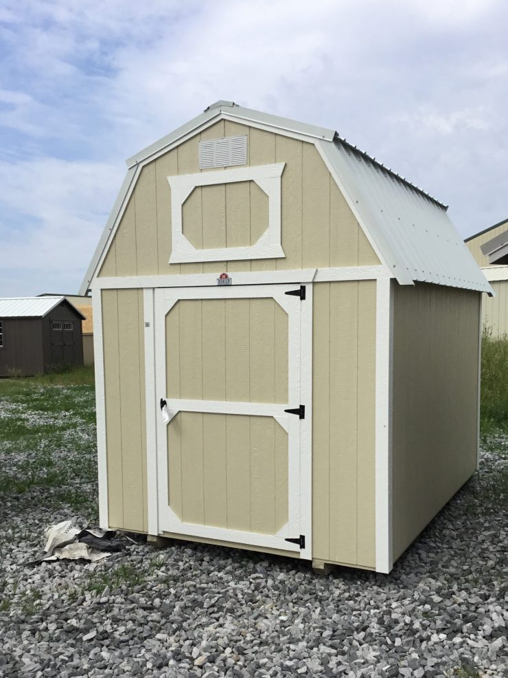 8x12 Lofted Barn Shed in Almond Paint