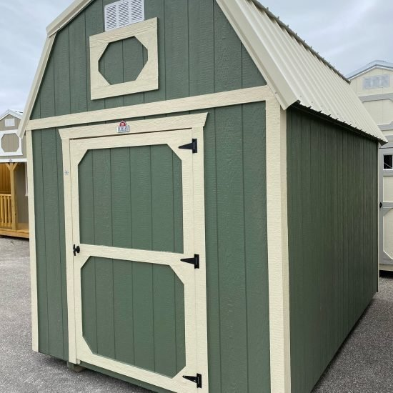 8x12 Lofted Barn in Pequea Green Paint
