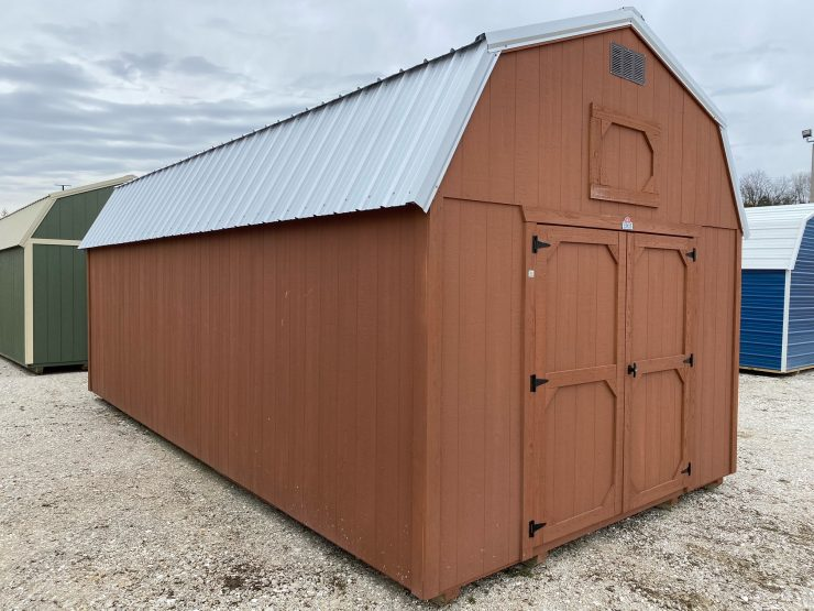 12x24 Lofted Barn Best Value Wood front