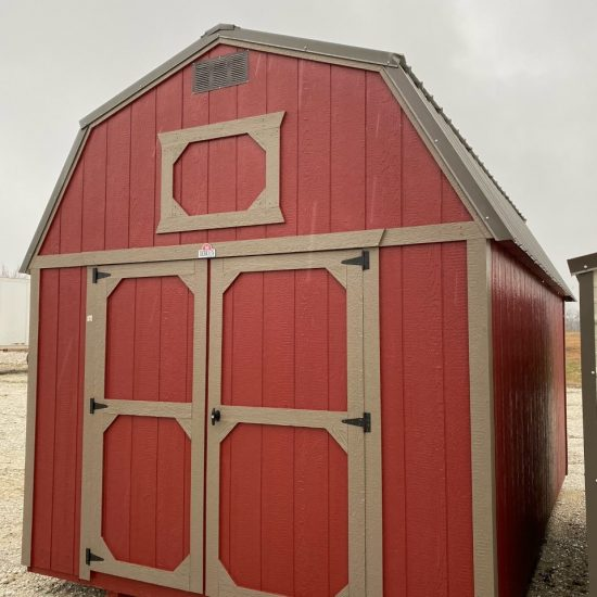 10x16 Lofted Barn Shed in Barn Red Paint