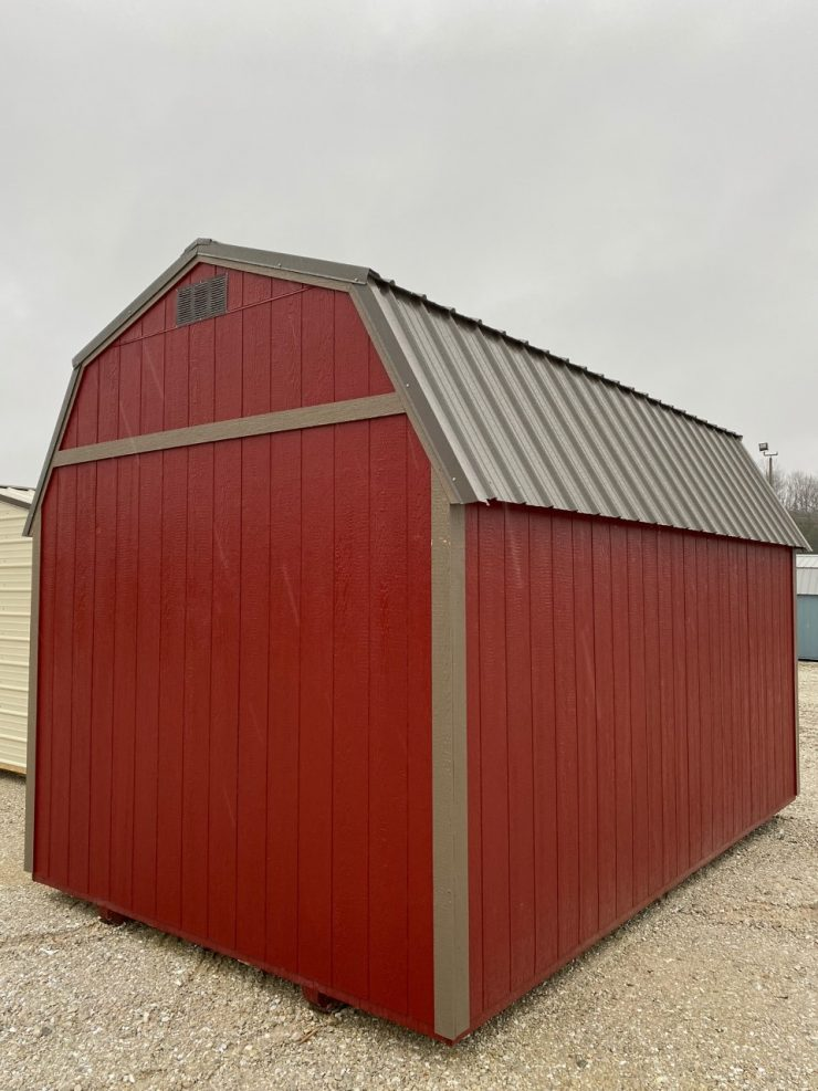 10x16 Lofted Barn Shed in Barn Red Paint Back